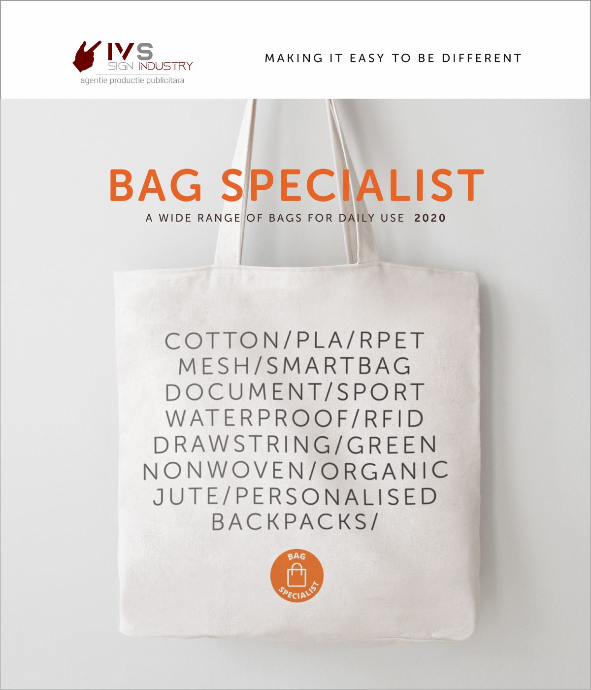 IVS SIGN INDUSTRY Bag Specialist catalog